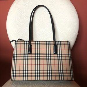 Handbags - EUC cream, black red plaid fashion shoulder bag